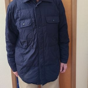 The Company Store Mens Blue Down Jacket